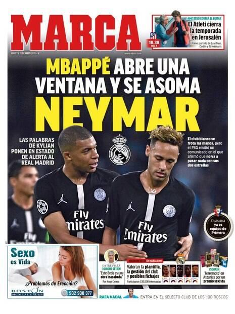 Neymar na capa do Marca