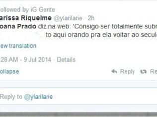 Internautas comentam desabado de Joana Prado