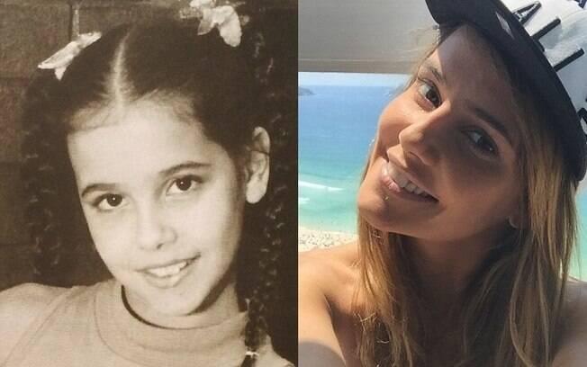 Deborah Secco na infância e atualmente