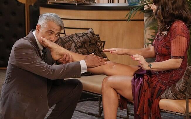 Priscila Fantin e Tarcísio vivem dois amantes em 'Eta Mundo Bom', da Globo