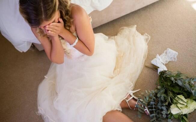 A noiva recebeu diversos comentários de apoio na publicação e, para uma das usuários, o marido parece ser imaturo