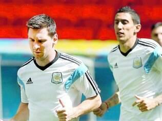 Estrelas. Messi e Di María são os dois principais jogadores da Argentina nesta Copa do Mundo