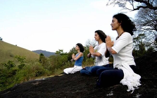 Meditação no hotel Ponto de Luz, em Campos do Jordão