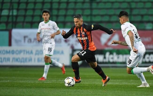 Marlos deixou a sua marca em goleada do líder Shakhtar no Campeonato Ucraniano