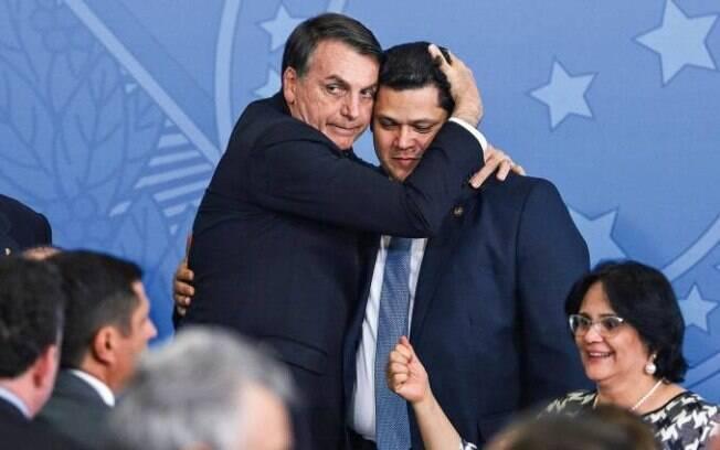 Jair Bolsonaro e Davi Alcolumbre