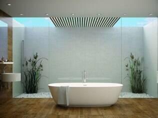 Sóbrio. Neste banheiro, projeto limpo e com ares contemporâneos chama atenção