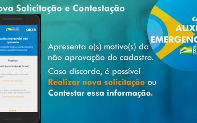 Constestação app Caixa