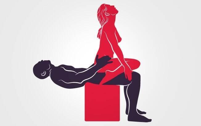 Mulher consegue se inclinar para, além de sentir prazer, massagear os testículos do parceiro, aumentando seu tesão