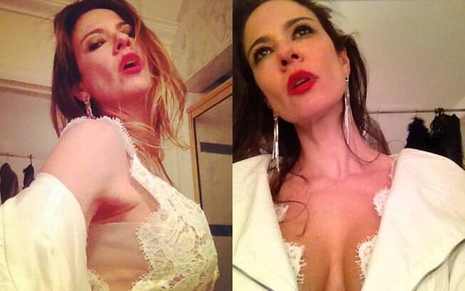 Luciana Gimenez faz caras e bocas em ensaio sensual no Twitter