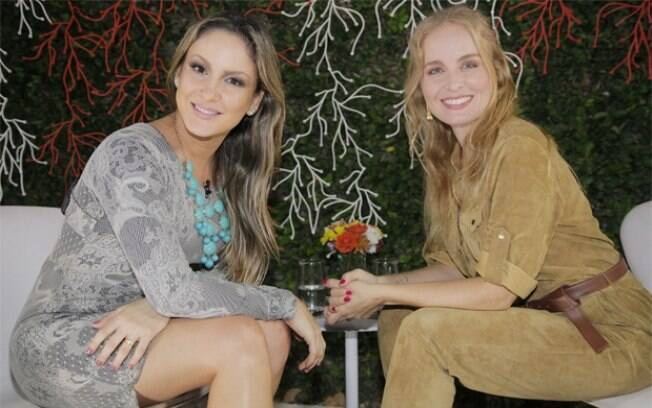 Claudia Leitte recebeu Angélica para sua primeira entrevista para o