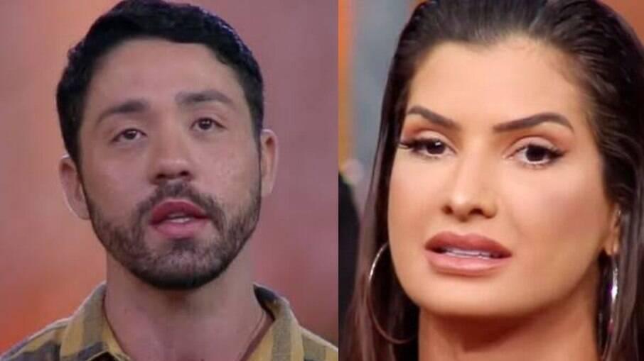 Rico e Marina trocaram farpas nos últimos dias dentro do reality