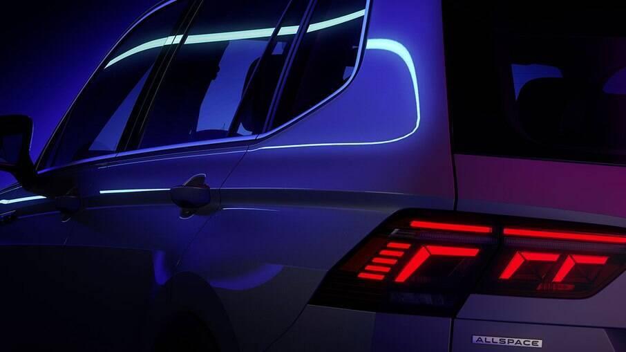 VW Tiguan Allspace contará com 22 cm a mais ao Tiguan convencional por causa dos sete lugares