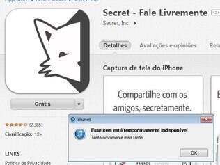 Apple tira Secret de sua loja no Brasil