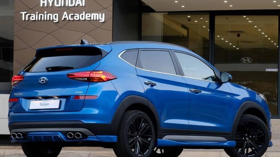 Hyundai Tucson Sport com 204 cv de potência faz jus ao sobrenome e ás quatro saídas de escapamento na traseira