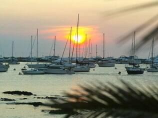 Vista da baía de Punta del Este