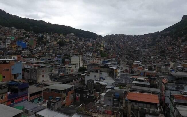 Ilustração da favela da Rocinha