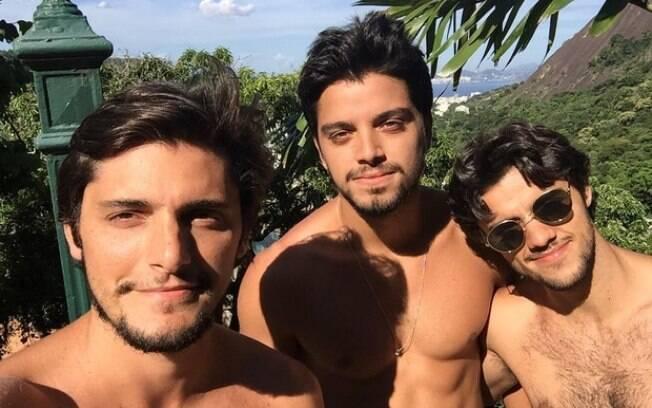 Rodrigo Simas Felipe Simas e Bruno Gissoni