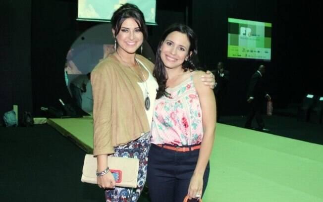 Fernanda Paes Leme e Juliana Knust no Fashion Rio nessa quarta-feira (11)