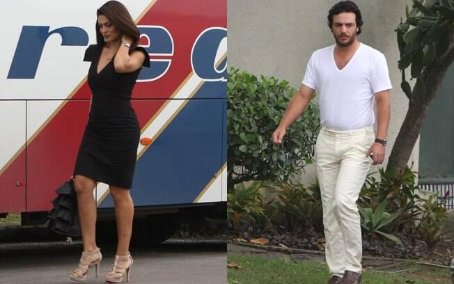 Juliana Paes e Rodrigo Lombardi gravam cenas de