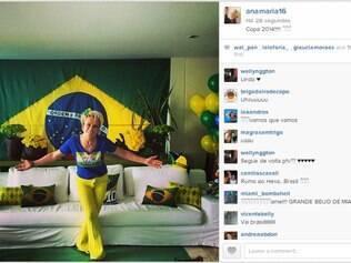 Ana Maria Braga está com a casa preparada para torcer pelo Brasil