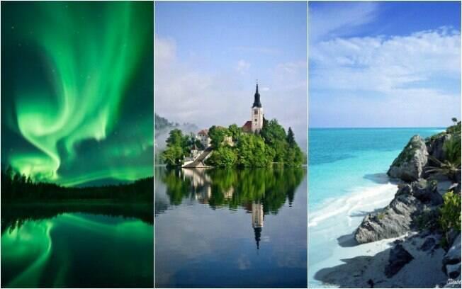 Auroras boreais, cidade de Bled e praia do Caribe estão entre na lista de destino para os introvertidos