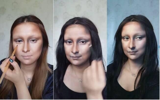 A maquiadora chinesa He Yuya utiliza técnicas de contorno para modelar o rosto com ilusões  de luz e sombra
