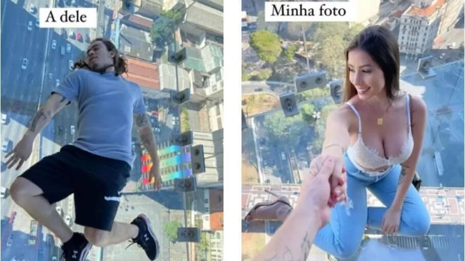 Whindersson Nunes e Maria Lina se divertem em São Paulo