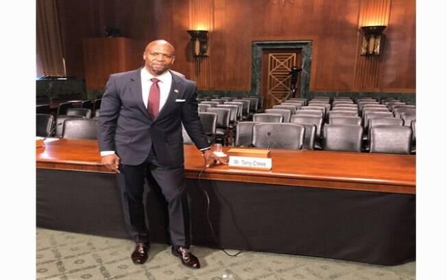 Terry Crews no Senado americano