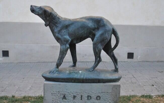 Fido foi homenageado em Florença, na Itália
