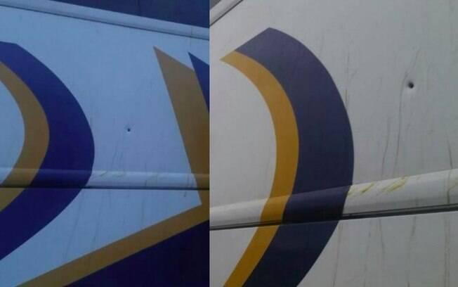 Lataria dos ônibus da caravana de Lula foi atingida por três tiros