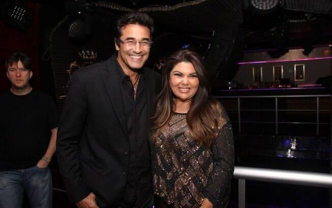 Fabiana Karla e Luciano Szafir, o dono da casa noturna