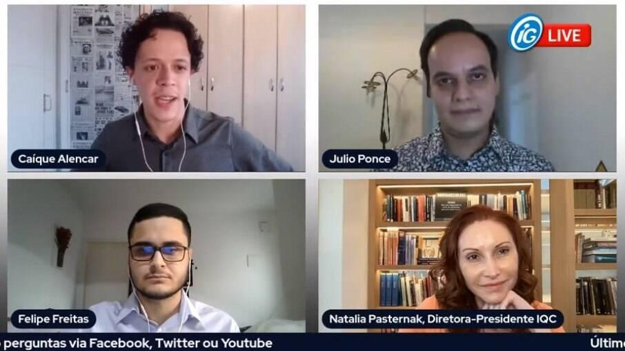 Transmissão ao vivo teve como convidados a microbiologista Natalia Pasternak e o do farmacêutico Julio Ponce