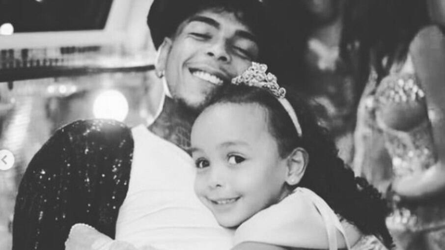 MC Kelvin e a filha Soraya