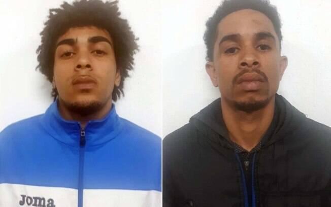 Bruno Gomes da Silva (casaco azul) e Sérgio Luís dos Santos (blusa preta) foram presos no sábado