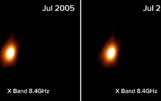 Segundo Observatório Nacional de Radioastronomia, a primeira indicação do evento veio em 30 de janeiro de 2005