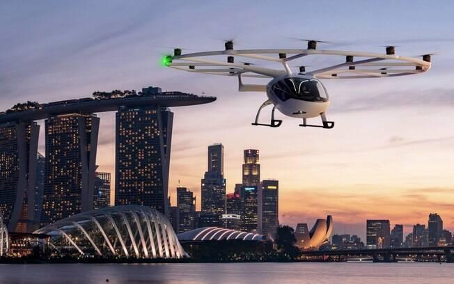 VoloCity: táxi voador terá as primeiras viagens em Singapura, em um trajeto para turistas, que pagarão mais de R$ 1.850 cada