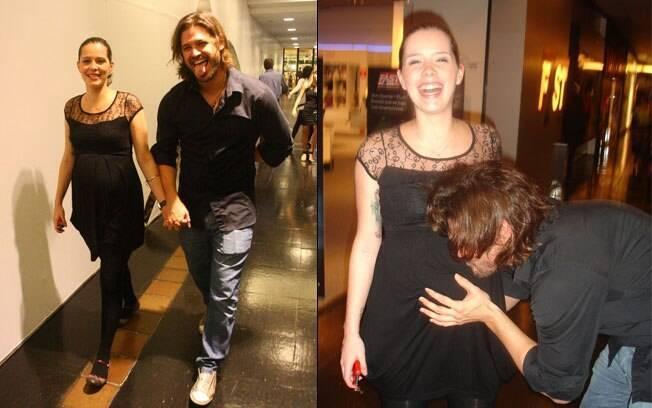 Dado Dolabella e Juliana Wolter: família feliz!