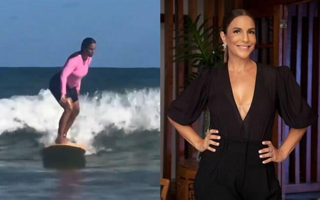 Ivete Sangalo salva menino enquanto surfava