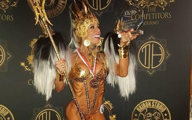 Grazy Alcântara venceu o Diva Fitness, importante competição do fisiculturismo