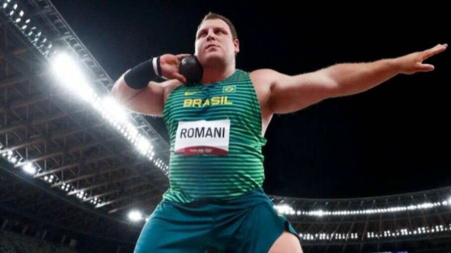 Darlan Romani ficou em quarto no arremesso de peso
