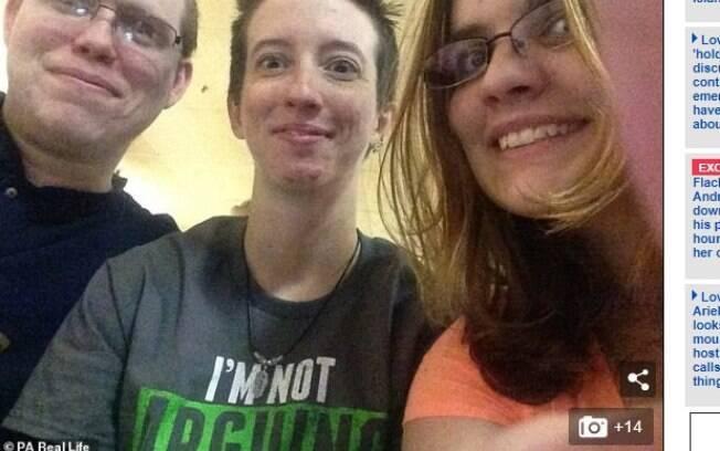 Jayden, Keeley e o amigo Jeremiah