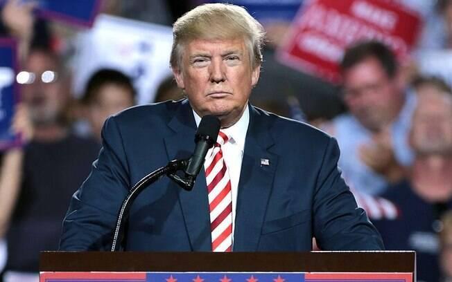 Donald Trump discursando