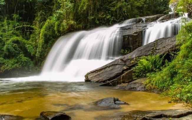 Cachoeira em Delfim Moreira, Minas Gerais