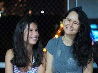 Cristina e a filha Milena
