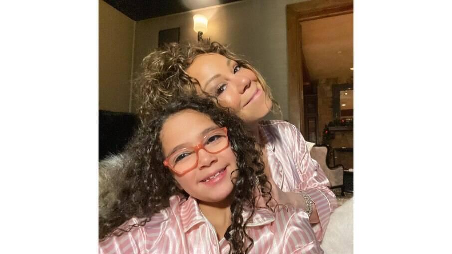 Mariah Carey e a filha Monroe