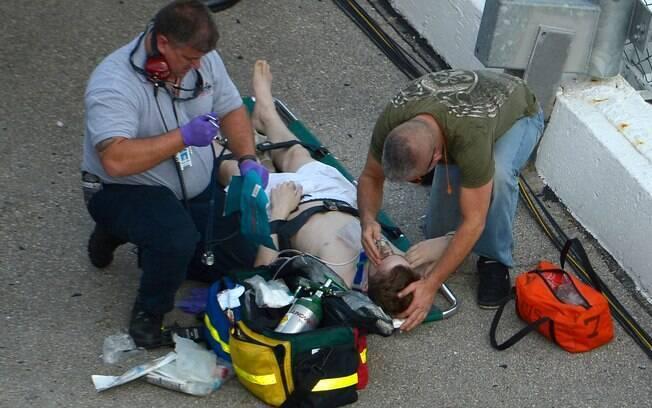 Torcedores ficaram feridos no acidente