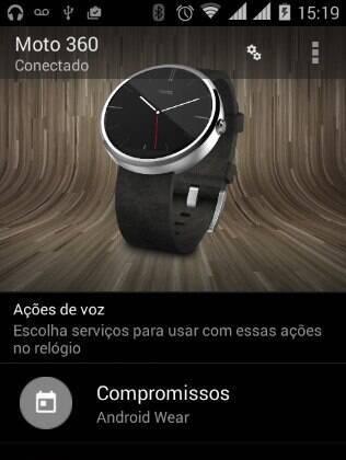 Android Wear permite configurar o Moto 360