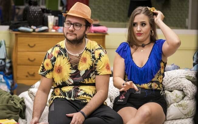 Patrícia e Diego mostram que nem sempre a aproximação entre um homem e uma mulher indica um 'algo a mais'