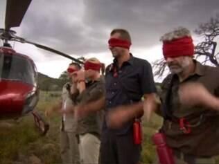 Trailer do programa mostra atletas vendados chegando a local onde serão 'abandonados' com o desafio de sobreviver
