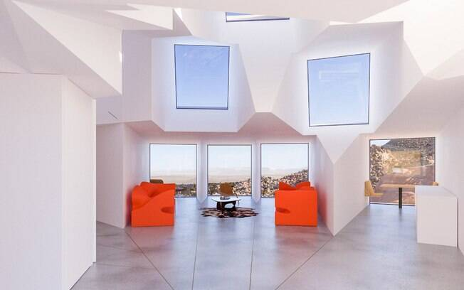 A casa terá três suítes, uma cozinha e uma sala de estar, cômodos que devem ficar interligados pela área central